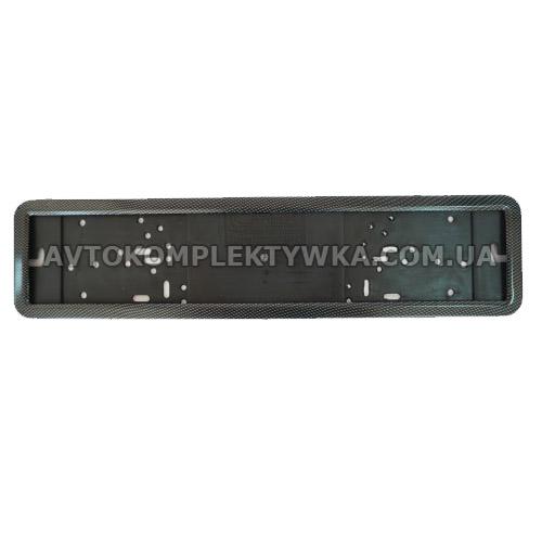 Рамка под номерной знак карбон